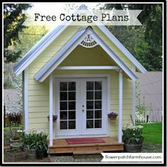 Do you have Happy Place? If not… Got a spot in the back yard???  Build yourself one…. My sweet husband and I built this lovely little cottage together. My brother in law helped too in setting ...