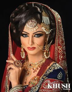 How stunning is this bridal makeup look by Shally's Beauty Parlour  Wolverhampton based, Nationwide coverage T: +44(0)1902 459 088  M: +44(0)7805 926 889 (By appointment only)  Outfit: Seema Silk Sarees Jewellery: NK Collection  Nose Ring: Anees malik Bangles: The Lotus London