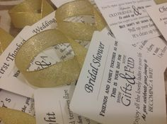 Give a unique gift that is sure to impress! This set of wine basket tags have a poem for each first event in the new couples lives. There are thirteen