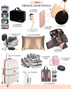 Travel Essentials For Women, Packing Tips For Travel, Travel Bags, Best Packing Cubes, Travel Guide, Airplane Essentials, Travel Cubes, Best Travel Backpack, Travel Items