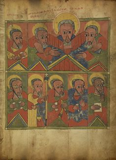 Suspected - Gospel Book; Unknown; Ethiopia; about 1480 - 1520; Tempera on parchment bound between wood boards; Closed: 36.5 x 27 x 11.4 cm (14 3/8 x 10 5/8 x 4 1/2 in.); Ms. 105