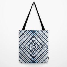 Diamonds Indigo Tote Bag by Vikki Salmela