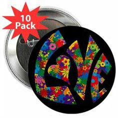 #Artsmith Inc #Everything ElseCollectibles #2.25 #Button #Pack) #Love #Flowers #Colors 2.25 Button (10 Pack) Love Flowers 60s Colors http://www.seapai.com/product.aspx?PID=7153853