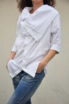 Be happy/turndown big collar batwing sleeve by KelansArtCouture