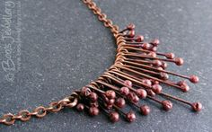 RESERVED LISTING Copper raindrops necklace by BooJewels on Etsy