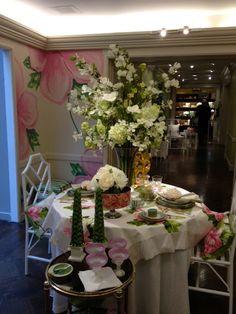 A spring table setting at Bergdorf Goodman,  Via francesschultz.com