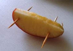 Crafting with Food: Racecar Snacks from Apple Slices - #art, #diy, craft