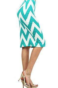 $12+50%+OFF!!+Chevron+Pencil+Skirt