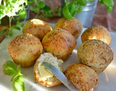 - Rundtykker - Rolls with Herbs and Parmesan - Food N, Food And Drink, Bread Recipes, Baking Recipes, Norwegian Food, Bun Recipe, Bread Baking, Food Videos, Food Inspiration