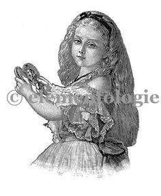 Victorian Image No. 1490 , Printable Digital Image File - elementologie, Vintage Market And Design