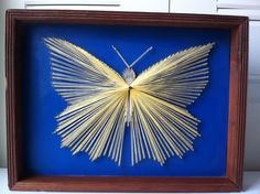 Butterfly Nail and Thread Art by uniquethrifts on Etsy, $100.00