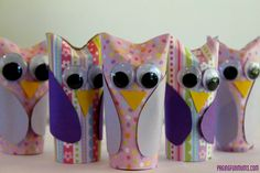 Adorable Paper Roll Owl Craft for kids! Cute kids activity.