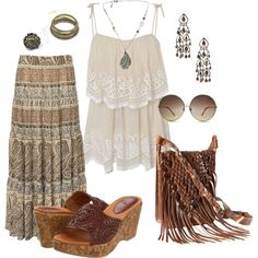 ☮ American Hippie Bohemian Style ~ Boho .. Summer Night Out .. Outfit!