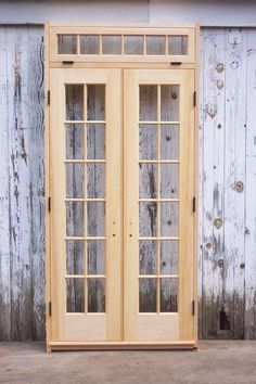 36 X84 Antique Exterior Entry White Oak Wood Door 9 Beveled Glass Lites Windows For The Home