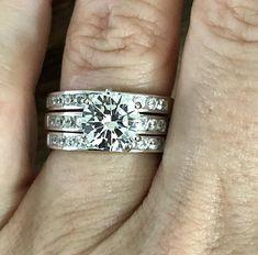 A Flawless 2CT Round Cut Belgium Lab Diamond Three Ring Bridal Set Three Rings, Bridal Ring Sets, Lab Diamonds, Classic Elegance, Belgium, Silver Rings, Ships, Sparkle, Polo