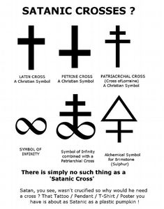 I'm getting a bit annoyed with various claims as to what is and isn't a 'Satanic Cross'. Lets establish a fact or two before I cont… Witch Symbols, Occult Symbols, Magic Symbols, Symbols And Meanings, Occult Art, Ancient Symbols, Satanic Cross, Satanic Art, Satanic Rules