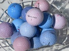 Dye golf balls- cute Father's Day gift. Dye colors of favorite sports team.