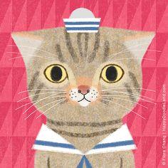 Toto, 8 x 8 Art Print by flora chang | Happy Doodle Land Etsy shop
