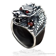 Sterling Silver Retro Dragon Ring DH1415_0