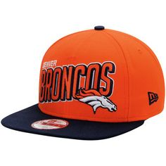 16ff7fb1d NFL Denver Broncos New Era NFL Striker Snap Original Fit 9FIFTY Adjustable  Hat - Orange Navy