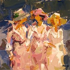 """""""Walking+in+the+Hills""""+after+Edward+H.+Potthast,+painting+by+artist+Sally+Cummings+Shisler"""