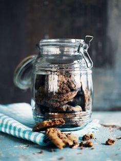 Chocolate cookies. Ihanat cookiet - Amerikkalaiset suklaapikkuleivät. Testattu; toimii!