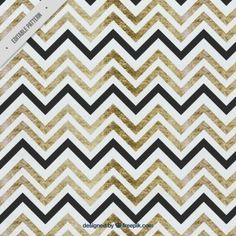 Watercolor zig zag pattern
