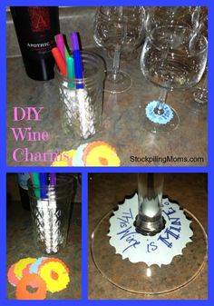 DIY Wine Charms are perfect and inexpensive to make!