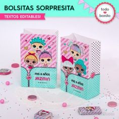 LOL: bolsa sorpresita para imprimir Doll Party, Lol Dolls, Holidays And Events, Party Supplies, Birthday Parties, Palette, Pastel, Tips, Birthday Surprises