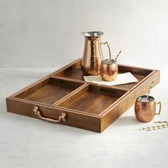 993a7c0e5f0 Four-In-One Mango Wood Tray Set Natural Small Tray