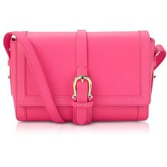 Aspinal of London Neon Pink Mini Shoulder Buckle Bag (30,275 PHP) ❤ liked on Polyvore featuring bags, handbags, shoulder bags, buckle purses, mini shoulder bag, pink handbags, miniature purse and long shoulder bags