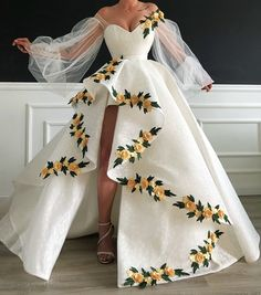 white prom dresses 2019 sweetheart neckline embroidery hand made flowers lace ba. - - white prom dresses 2019 sweetheart neckline embroidery hand made flowers lace ball gown evening dresses long arabic on Storenvy Source by Pretty Prom Dresses, Pageant Dresses, Prom Gowns, Flower Dresses, Wedding Dresses, Dresses For Prom, Long Sleeve Dresses, Sexy Dresses, Dress Lace