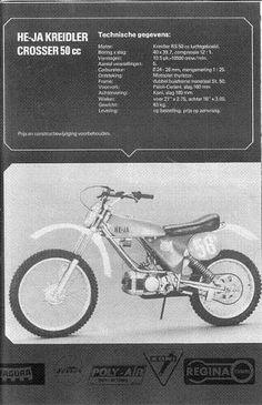 He-ja Kreidler 50 cc Enduro Vintage, Vintage Motocross, Moped Bike, 50cc, Dirtbikes, Cars And Motorcycles, Old School, Nostalgia, Retro