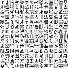 Vinilo ancient jeroglíficos egipcios - jeroglífico • PIXERS.es
