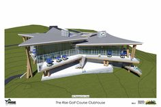 Samuelson Timberframe Design Inc - West Coast Contemporary - The Rise Golf Course Clubhouse Construction Drawings, Timber Frame Homes, West Coast, Golf Courses, House Design, Club, Contemporary, Studio, Outdoor Decor