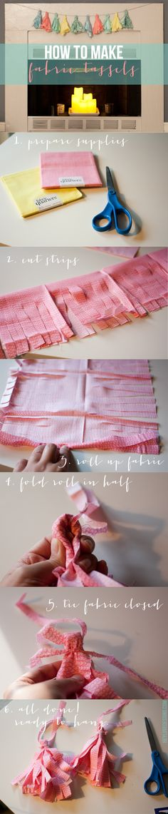 How to Make Fabric Tassels | Hey Love Designs