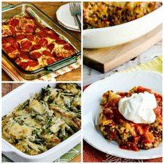20+ Delicious Low-Carb and Keto Casserole Recipes found on KalynsKitchen.com