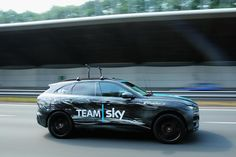 Prototype version of #Jaguar #FPACE for the first time in public with light camouflage at 1st stage of #tourdefrance