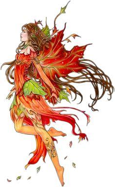 Autumn fairy/ tubes fées / elfes - Blog de l'ile de kahlan