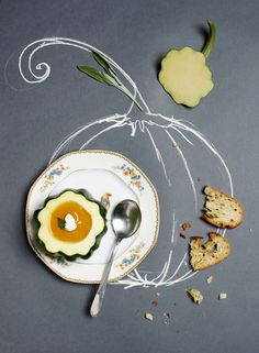 Lovely and playful food styling: Food Styling, Food Photography Styling, Foto Still, Photo Food, Mets, Culinary Arts, Food Illustrations, Creative Food, Food Presentation