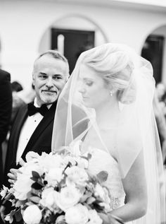 The walk down the aisle with dad: http://www.stylemepretty.com/2016/04/20/a-whirlwind-hometown-wedding-filled-with-heart/ | Photography: Annie Parish - http://annieparishphotography.com/