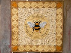 Bee Humble Wool Applique Quilt Pattern Bee humble, bee kind, bee thankful... This quilt features a wool applique center surrrounded by a pieced border of snowball blocks. Welcome summer! Quilt finished size: 24 3/4x 24 3/4. Pattern includes a full size drawing of all wool