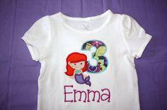 Personalized Mermaid Birthday Onesie or Tshirt by slmeccage, $20.00