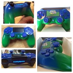 Sprite themed GT custom build, two toned controller touchpad artwork and paintings complete!