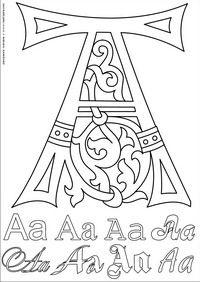 Буква A - скачать и распечатать раскраску. Раскраска Английский алфавит для разукрашивания букв латинского алфавита