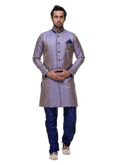 Buy Purple Brocade Sherwani online from the wide collection of achkan-sherwani. Purple colored achkan-sherwani goes well with any occasion. Shop online Designer achkan-sherwani from cbazaar at the lowest price.