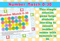Number Match – Numeral and Word to 30