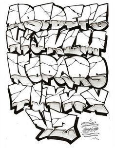 Graffiti style alphabet a to z this can be an example to create graffiti art street. Graffiti style is also cool. Good luck with making graffiti. Graffiti Font Style, Graffiti Alphabet Styles, Graffiti Lettering Alphabet, Graffiti Writing, Tattoo Lettering Fonts, Graffiti Characters, Graffiti Styles, Graffiti Wall, Street Art Graffiti