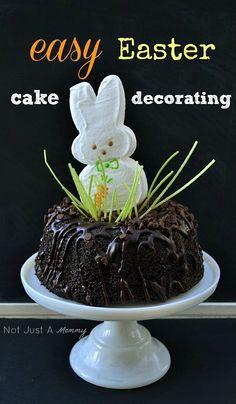 Easy Easter cake topper, a jumbo bunny Peep