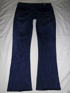 LKNEW Rock & Republic Kasandra Jean Dark Stretch Flap Pockets Boot Flare 10 M